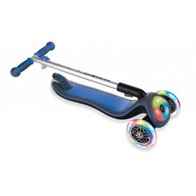 Globber Elite Prime Trottinette avec roues LED clignotantes sans batterie Enfant, navy blue